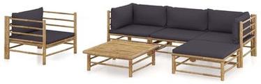 Välimööbli komplekt VLX Garden Lounge Set Bamboo, hall/pruun, 4-5 istekohta