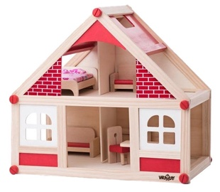 Woodyland Fun Small Doll House With Accessories 91328