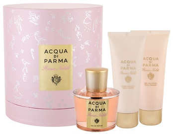 Rinkinys moterims Acqua Di Parma Rosa Nobile 100 ml EDP + 75 ml Body Cream + 75 ml Shower Gel New Design