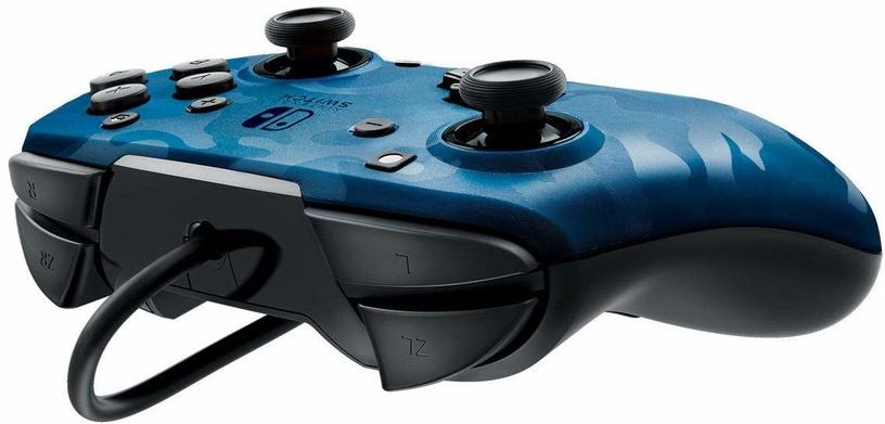 Игровой контроллер PDP Faceoff Deluxe+ Camo Blue