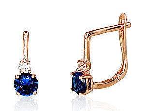 Diamond Sky 14K Red Gold Earrings Glory