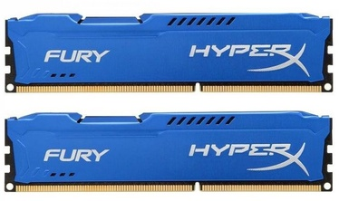 Kingston 16GB DDR3 PC14900 CL10 DIMM HyperX Fury Blue Series KIT OF 2 HX318C10FK2/16