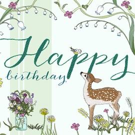 Clear Creations Deer Birthday Card CL2116