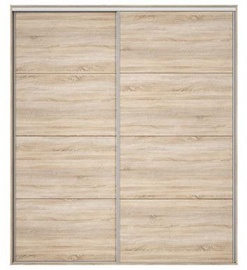 Black Red White Wardrobe Front Nadir 210-220 Sonoma Oak