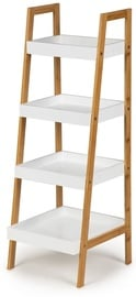 GoodHome Bookcase Shelf White/Wood