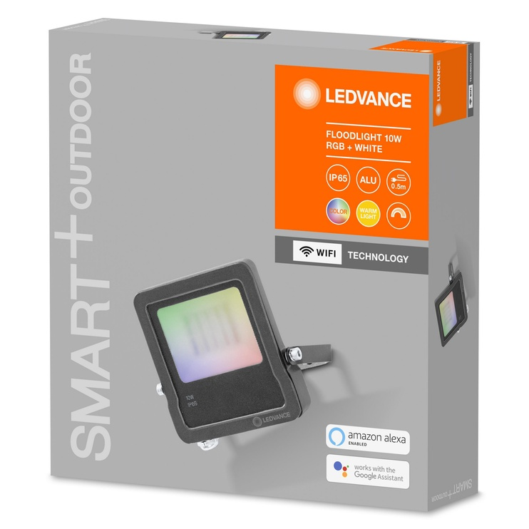 Светильник Ledvance 4058075474604, 1x10Вт, 3000-6500°К, LED, IP65, серый