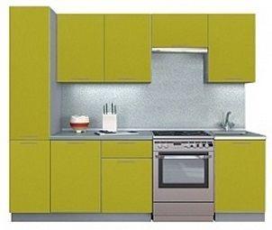 Virtuvės baldų komplektas MN Simpl Green, 2.5 m