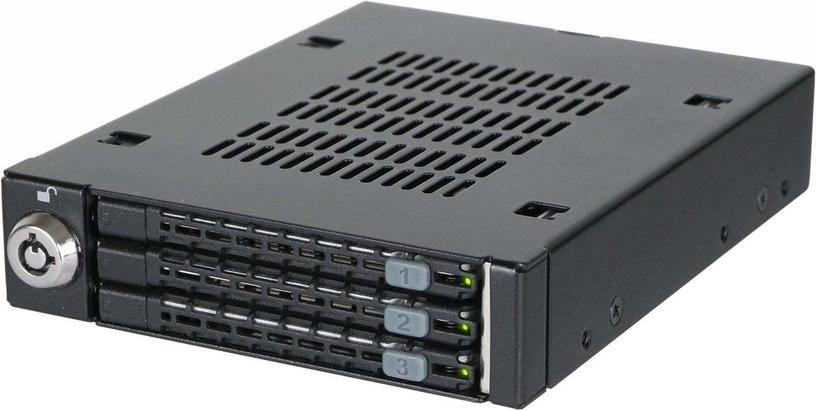 """Icy Dock ToughArmor MB993SK-B 3x2.5"""" To 3.5"""" SAS/SATA HDD & SSD Mobile Rack"""