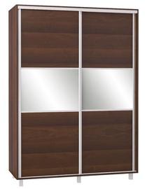 Bodzio SZP150 Sliding Wardrobe w/ Mirror 150x210cm Walnut