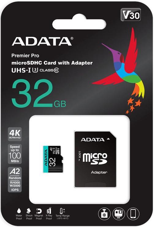 ADATA Premier Pro microSDHC 32GB UHS-I Class 10 A2