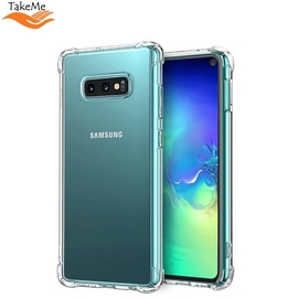 TakeMe Anti-Shock Cover Case For Samsung Galaxy S10+ (G975) Transparent 0.5mm