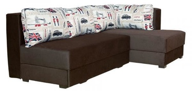 Bodzio Corner Sofa Judyta Right Velor Brown/London 1