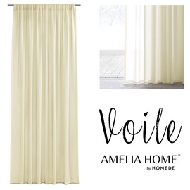 Dienas aizkari AmeliaHome Voile, dzeltena, 1600 mm x 2500 mm