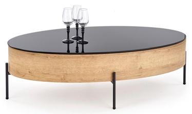 Журнальный столик Halmar Zenga Oak/Black, 1200x600x370 мм