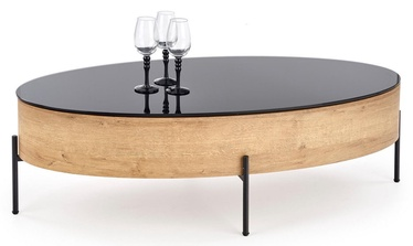 Kafijas galdiņš Halmar Zenga Oak/Black, 1200x600x370 mm