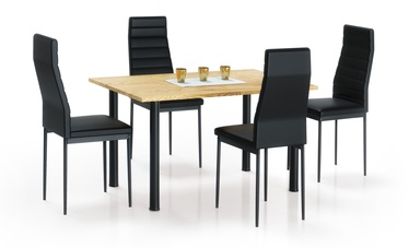 Pusdienu galds Halmar Adonis 2 Golden Oak/Black, 1200x800x760 mm