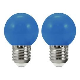 LED-lamp Polux, E27, 0,5 W, 50 lm, 3000 K, sinine, 2tk