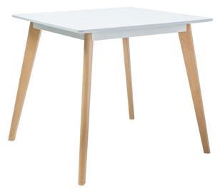 Pusdienu galds Signal Meble Scandinavian Declan II, balta/dižskābarža, 800x800x750mm