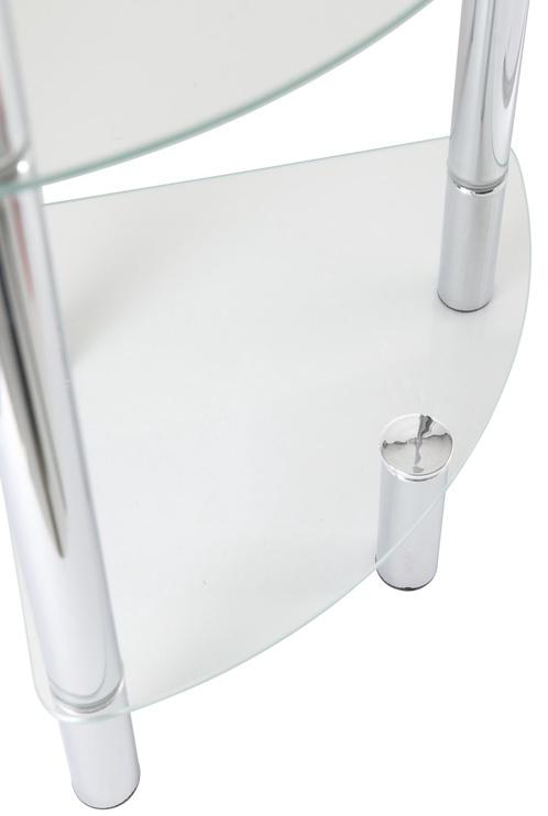 Axentia Bathroom Corner Shelf Chrome