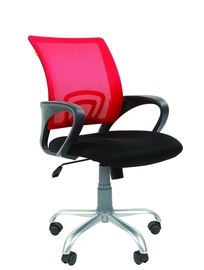Chairman 696 Silver TW Office Chair Red