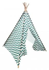 Детская палатка в стиле типи с зеленым рисунком Mportas