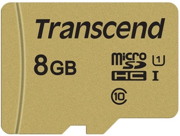 Transcend MicroSDHC 8GB CL10 UHS-I U1 Up To 95MB/S + Adapter