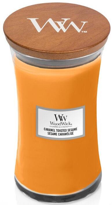 Ароматическая свеча WoodWick Caramel Toasted Sesame Orange, 610 г
