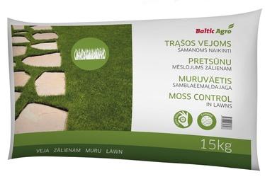 Trąšos samanotoms vejoms Baltic Agro, 15 kg