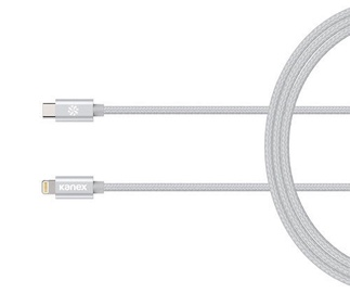 Kanex DuraBraid Premium USB-C to Lightning Cable Silver 1.2m