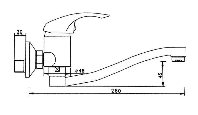 Ūdens maisītājs vannai Thema Lux L-1106