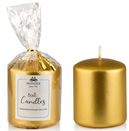 Mondex Classic Candle Metalic Gold 9cm