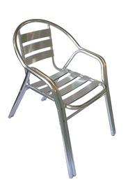 Sodo kėdė Domoletti, sidabro, 57x54x73 cm