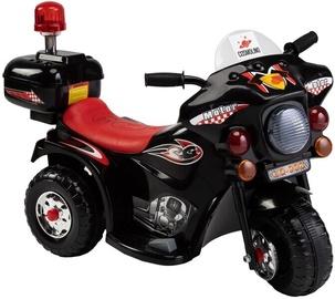 Детский черный мотоцикл с боковыми колесиками LQ-998
