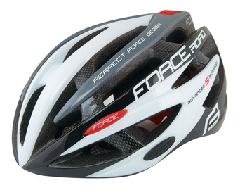 Force Road Helmet Black/White/Gray S/M