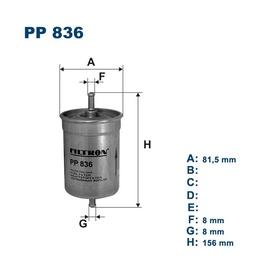 Automobilių kuro filtras Filtron PP836