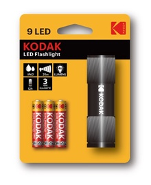 Rankinis LED žibintuvėlis KODAK, 46lm, 3XAAA, IP62, juodas