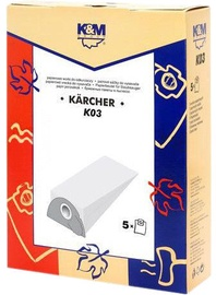 K&M Group Vacuum Cleaner Bags 5 for Karcher KM-K03