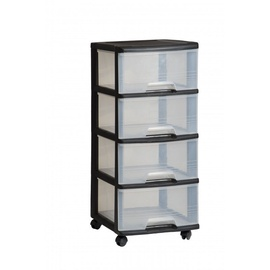 Curver 4 Drawer System 20l Black/Transparent