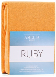 AmeliaHome Ruby Frote Bedsheet 120-140x200 Orange 50