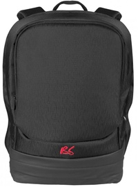 """Maclean Laptop Backpack 15.6"""" With USB Charging Port Black"""
