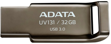 USB atmintinė ADATA UV131 Grey, USB 3.0, 32 GB