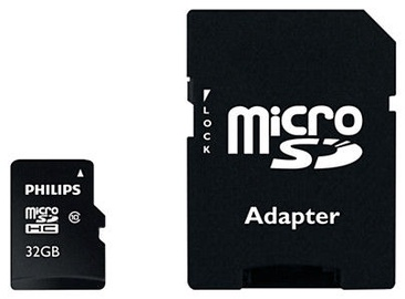 Mälukaart Philips Micro SD Card 32GB + Adapter FM32MP45B