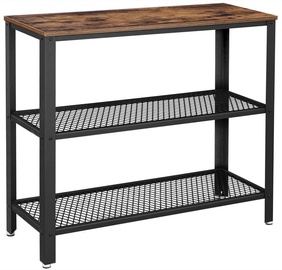 Songmics Industrial Console Table Brown/Black 101.5x35x80cm