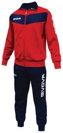 Givova Visa Tracksuit Red Navy 2XS
