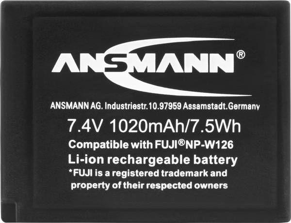 Ansmann A-Fuj NP-W Replacement Battery 126 LI 7.4V/ 1020mAh