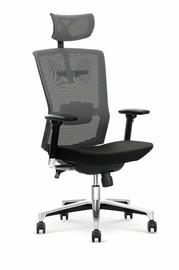 Biuro kėdė Ambasador, pilka, juoda