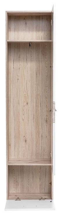 ASM Gustavo V w/ Pillow Hallway Wall Unit Set Gloss White/Wellington Oak