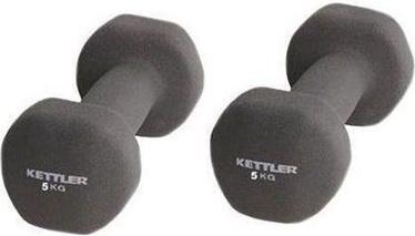 Kettler Neoprene Dumbbells 2x5kg Black