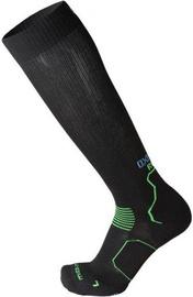 Mico Long Running Socks Oxi Jet Black/Green 35-37