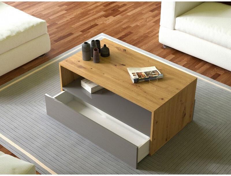 Kafijas galdiņš Top E Shop Rebel Artisan, pelēka/ozola, 900x540x400 mm
